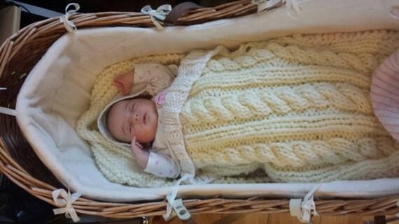 Baby Sleeping Bag knitting pattern snuggly baby sleeping