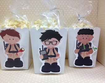 Boy and Girl Ghostbusters Party Popcorn or Favor Boxes - Set of 10