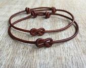 Simple Bracelet, Couple Bracelets, His and her Bracelet, Couples Jewelry, His and Hers Gifts, Infinity Couple Bracelet, Minimalist LC001118