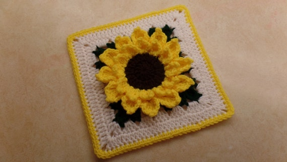 Crochet sunflower 84