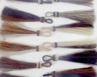 Horsehair tassel, all Natural, horsehair tassel,  PERFECT horsehair jewelry,  genuine horsehair tassel,  two-toned, horsehair tassel,
