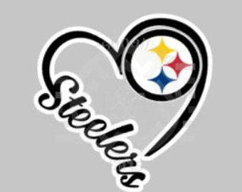 I Heart Steelers, decal, Pittsburgh, football