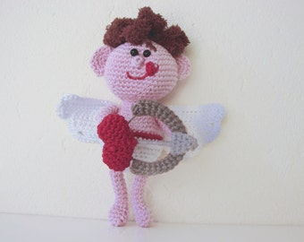 Amigurumi Cupid crochet pattern | Valentine's day | crochet pattern love letter | romantic heart pattern | arrow | bow | amigurumi Valentine