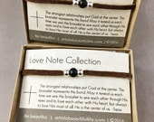 His and Hers Bracelet Set of 2    Boyfriend Girlfriend Jewelry for Couples   Inspirational Jewelry   Christian Bracelet Set, Brown Suede