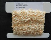 Buds and Bows Pale Peach and Ivory 4055
