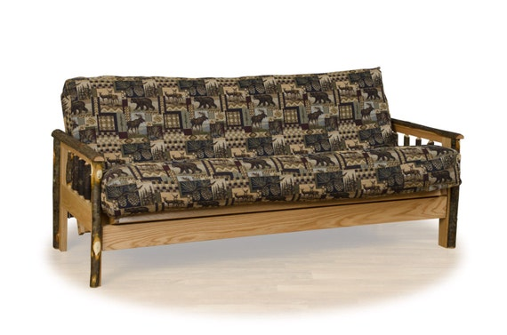Daybeds Made In The Usa : Rustic hickory futon couch sofa bed fabric options