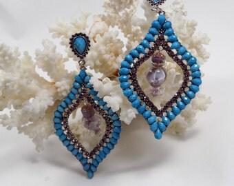 """pair of earrings, """"Scheherazade"""""""