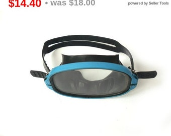 Vintage Swimmer Dive Mask for adults, Dive Mask, Old Swim Mask. Black Diving Mask, Beach DecorMask with oval glass