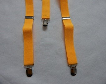 gold suspenders - for the diaper cover and tie set---boy's gold suspenders