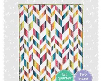 Scrappy Herringbone Quilt Pattern