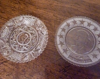 Two small presidential plates