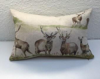 "Handmade, Stag Cushion Cover  - 15""x 10"""