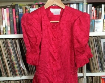 Flamboyantly Fabulous Pink 80s Blouse - Flora Kung II New York - Size 4
