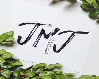 JMJ simple 5x7 print, Jesus, Mary, Joseph