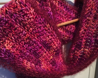 Magenta Scarf   Wine Scarf   Jewel Tone Scarf   Crochet Scarf   Women's Scarves    Women's Accessories   Handmade Scarves   Valentine Gift
