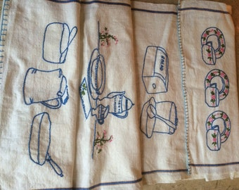 Hand Stitched Kitchen Towels