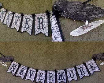 Nevermore halloween banner