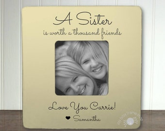Personalized Sister Frame Gifts for Sister A Sister Is Worth a Thousand Friends IBFSFAM