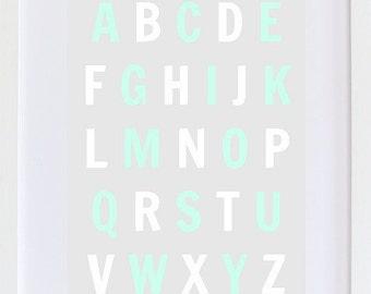 Alphabet    kids - nursery Wall Art