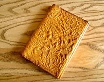 Passport cover Leather - passport holder - passport wallet - passport case - handmade cover - gift passport cover - Flower pattern