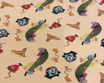 Brave Little Toaster Limited Edition Custom printed fabric Cotton Lycra 95/5