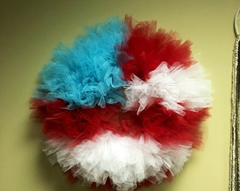 Patriotic Tulle Wreath