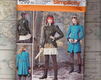 Plus Size Steampunk Costume Pattern, Simplicity 1299