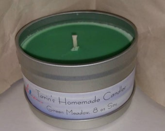 Green Meadow, 6 oz Soy Candle