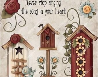 Song in Your Heart Clip Art Instant Digital Download