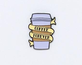 Coffee enamel pin //  coffee cup pin, morning joe, coffee pin, coffee lover gift, pingame, pingamestrong, coffee cup, caffeine addict