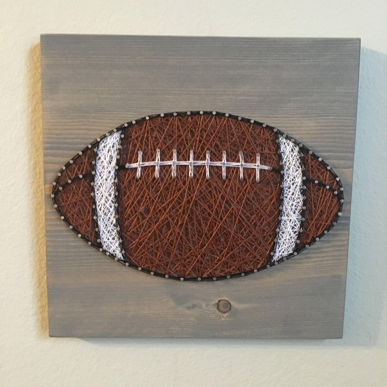 custom sports football string art sign sports art by