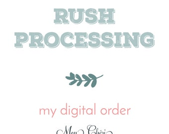 Rush my digital invitation order- Invitation Add On