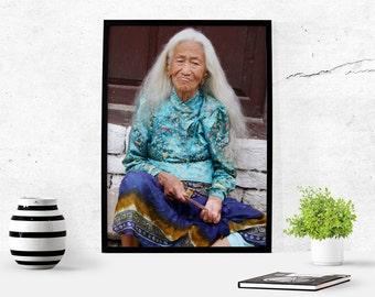Nepali Woman Photography Download Nepal Home Decor Nepal Photography Travel Art Wall Art Photography Digital Art Download Instant download
