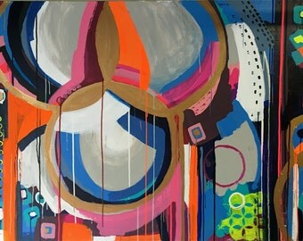 "03  SOLD 48"" x 72"" ""MollyWood """