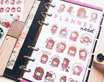KEENACHI Planner Nerd Original Art Laminated Dashboard - Personal Size Prints