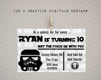 Storm Trooper invitation