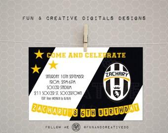 Juventus inspired invitation