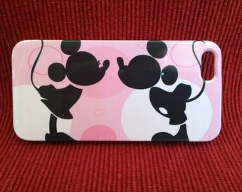 Minnie And Mickey Iphone 4 and 5 Plastic Case Free Shipping