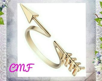 Open Arrow Ring Gold Ring Arrow Ring