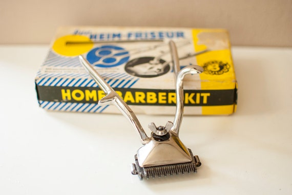 vintage hair trimmer home barber kit beard clipper in by. Black Bedroom Furniture Sets. Home Design Ideas