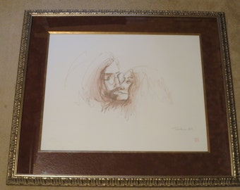 John Lennon & Yoko Ono, Limited Edition Print #87/300, Bag One Arts, CoA.