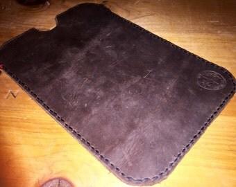 Stone Oiled Leather iPad Case