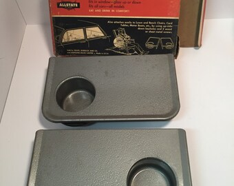 Vintage Sears metal auto snack bar trays