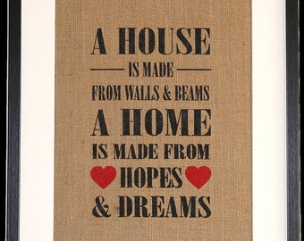 Framed 'Hopes & Dreams' picture