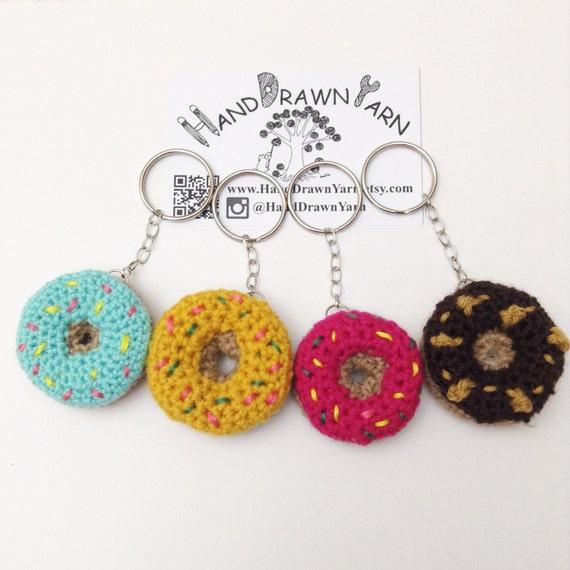 Mini Donuts Amigurumi : Mini Donut Keychain. Amigurumi Doughnut.Crochet by ...