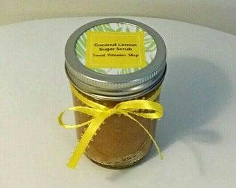 8oz Coconut Lemon Sugar Scrub 100% Organic