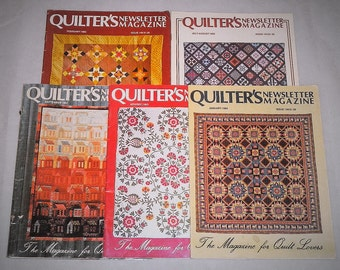 Quilter's Newsletter Magazine Vintage Set of Five Magazines 1983 and 1984
