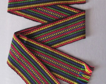 Traditional Ukrainian hand woven belt, krayka