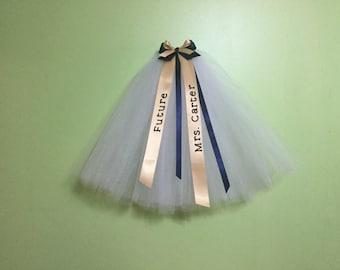 Personalized Bachelorette veil. Wedding veil. Bridal veil. Ribbon veil