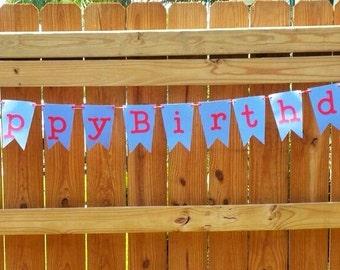 Happy Birthday Banner, Crab Birthday Banner, Under the Sea Banner